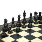 Premium Range Helena Chess Set Ebonywood 23″ Weighted Ebonised Morphy Professional Staunton Chess Pieces 3.75″
