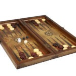 "Luxury Range Helena Backgammon Set ""Rural Bird Eye Maple"" – 20″  2150"