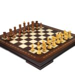 Premium Range Helena Chess Set Walnut 23″ Weighted Sheesham Zagreb Staunton Chess Pieces 3.75″