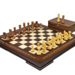 Premium Range Helena Chess Set Walnut 20″ Weighted Sheesham Zagreb Staunton Chess Pieces 3.75″
