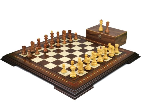 walnut staunton chess set with zagreb staunton chess pieces