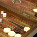 "Luxury Range Helena Backgammon Set ""Rural Rosewood"" – 20″  2150"