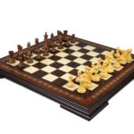 Premium Range Helena Chess Set Walnut 23″ Weighted Sheesham Morphy Professional Staunton Chess Pieces 3.75″