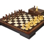 Premium Range Helena Chess Set Walnut 20″ Weighted Sheesham Morphy Professional Staunton Chess Pieces 3.75″