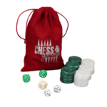 Backgammon Pieces 'Acrylic Pearl Green' – 36 mm