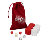 Backgammon Pieces 'Acrylic Red' – 36 mm