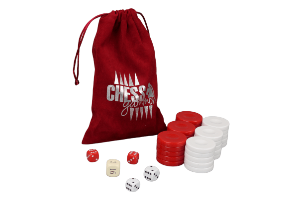 acrylic red backgammon pieces