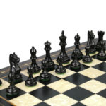 Premium Range Helena Chess Set Ebonywood 20″ Weighted Ebonised Fierce Knight Staunton Chess Pieces 3.75″