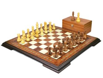 Premium Range Helena Chess Set Rosewood 20″ Weighted Sheesham Reykjavik Staunton Chess Pieces 3.75″