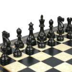 Premium Range Helena Chess Set Ebonywood 20″ Weighted Ebonised Reykjavik Staunton Chess Pieces 3.75″