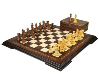 Premium Range Helena Chess Set Walnut 23″ Weighted Sheesham Reykjavik Staunton Chess Pieces 3.75″