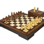 Premium Range Helena Chess Set Walnut 20″ Weighted Sheesham German Staunton Chess Pieces 3.75″