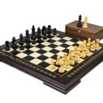 Premium Range Helena Chess Set Ebonywood 20″ Weighted Ebonised German Staunton Chess Pieces 3.75″