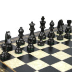 Premium Range Helena Chess Set Ebonywood 17″ Weighted Ebonised German Staunton Chess Pieces 3″