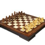 Premium Range Helena Chess Set Rosewood 17″ Weighted Sheesham German Staunton Chess Pieces 3″