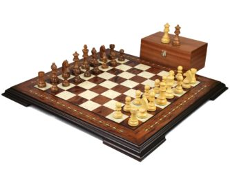 Premium Range Helena Chess Set Rosewood 19″ Weighted Sheesham German Staunton Chess Pieces 3″