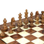 Premium Range Helena Chess Set Rosewood 23″ Weighted Sheesham German Staunton Chess Pieces 3.75″