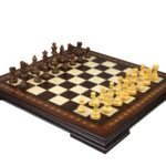 Premium Range Helena Chess Set Walnut 23″ Weighted Sheesham French Knight Staunton Chess Pieces 3.75″