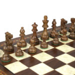 Premium Range Helena Chess Set Walnut 20″ Weighted Sheesham French Knight Staunton Chess Pieces 3.75″
