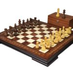 Premium Range Helena Chess Set Rosewood 17″ Weighted Sheesham French Knight Staunton Chess Pieces 3″