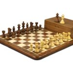 Original Range Chess Set Sheesham Flat Board 16″ With Atlantic Classic Staunton Chess Pieces 3″