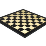 "Executive Range Chess Board ""Black & Maple"" – 20″"