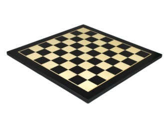 "Executive Range Chess Board ""Black & Maple"" – 21″"