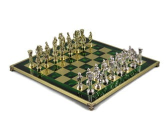 Metal Range Chess Set Emerald Green 18″ – 500G