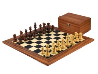 Executive Range Wooden Chess Set Palisander Board 20″ Weighted Sheesham Reykjavik Staunton Pieces 3.75″
