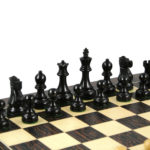 Executive Range Wooden Chess Set Tiger Ebony Board 20″ Weighted Ebonised Reykjavik Staunton Pieces 3.75″
