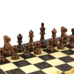 Executive Range Wooden Chess Set Tiger Ebony Board 20″ Weighted Sheesham Reykjavik Staunton Pieces 3.75″