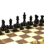 Executive Range Wooden Chess Set Walnut Board 20″ Weighted Ebonised Reykjavik Staunton Pieces 3.75″