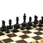 1972 Reykjavik Chess Pieces Broadbase Series Staunton Ebonised Boxwood – 3.75″