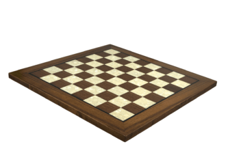 "Premium Range Helena Flat Mother of Pearl Chess Board ""Walnut Wood"" – 20″"