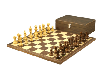Economy Range Wooden Chess Set Walnut Board 16″ Weighted Sheesham Classic Staunton Pieces 3″