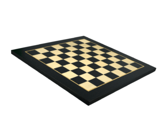 "Premium Range Helena Flat Chess Board ""Charcoal Black""- 20″"