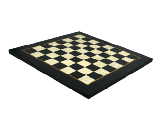 "Premium Range Helena Flat Mother of Pearl Chess Board ""Charcoal Black""- 20″"